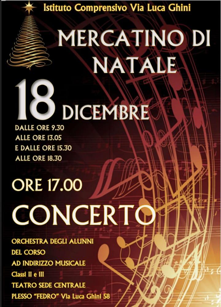 Mercatino e concerto di Natale. Scuola Secondaria