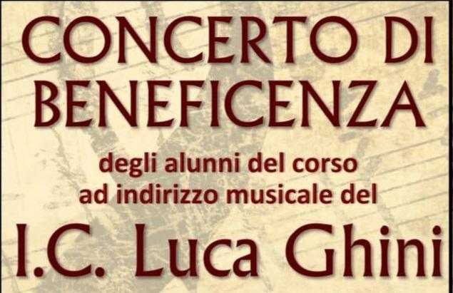 Concerto di beneficenza. 3 Maggio ore 17.00 presso il Teatro San Giustino